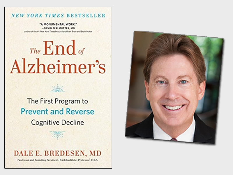 The End of Alzheimer's book cover and author photo