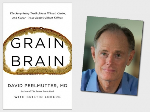 book cover with loaf of bread shaped like a brain and author's photo