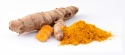 Curcuma longa roots and turmeric powder